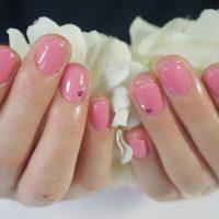 Cenbless 成増フェイシャル&ネイルサロン ローズ系ピンクで華やかなワンカラーネイル