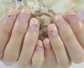 Cenbless 成増フェイシャル&ネイルサロン 成人式の振袖・晴れ着にも♪清楚なピンク系和装ネイル