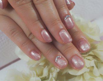 Cenbless 成増フェイシャル&ネイルサロン シャンパン系ピンクの上品オフィスネイル