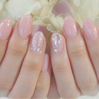 Cenbless 成増フェイシャル&ネイルサロン 春色ピンクのニュアンスワンカラーネイル
