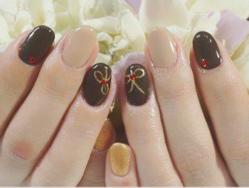 Cenbless 成増フェイシャル&ネイルサロン チョコレートカラーで描くバレンタインネイル