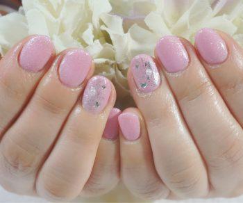 Cenbless 成増フェイシャル&ネイルサロン 淡いピンクカラーで春先取り!フォーマルワンカラーネイル