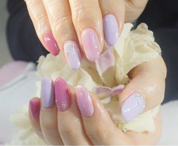 Cenbless 成増フェイシャル&ネイルサロン 春色ピンク×ラベンダーカラーで明るいお手元に♪春のパステルニュアンスネイル