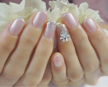 Cenbless 成増フェイシャル&ネイルサロン 春はピンクで気分UP!パールピンクのワンカラーネイル