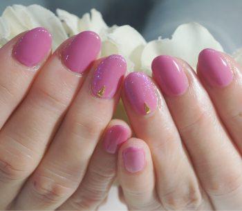 Cenbless 成増フェイシャル&ネイルサロン クラシックなローズピンクで手元明るく♪春のピンク系ワンカラーネイル