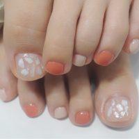 Cenbless 成増フェイシャル&ネイルサロン ヌーディーカラー×シェルフットネイル