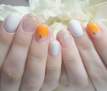 Cenbless 成増フェイシャル&ネイルサロン 夏のオレンジカラー!バルーンフレンチネイル