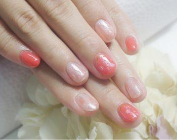 Cenbless 成増フェイシャル&ネイルサロン 人気デザインのカラーチェンジ!夏にぴったりのコーラル系ネイル