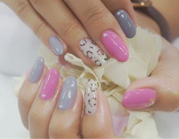 Cenbless 成増フェイシャル&ネイルサロン やっぱり可愛いピンク!秋のレオパードネイル