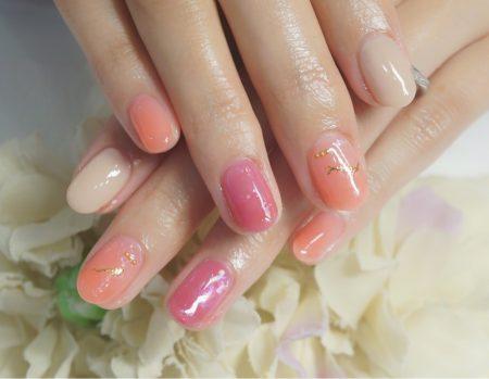 Cenbless 成増フェイシャル&ネイルサロン ロマンティックな薔薇柄アートネイル