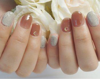 Cenbless 成増フェイシャル&ネイルサロン 冬の人気カラー配色!ベージュ&ブラウン系のワンカラーネイル