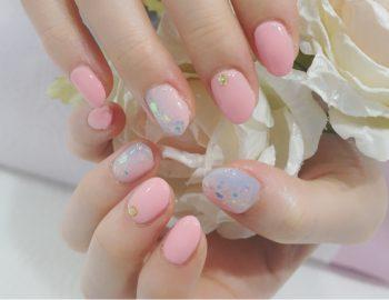 Cenbless 成増フェイシャル&ネイルサロン ふんわりパステル♪ピンクネイル