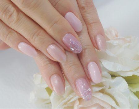 Cenbless 成増フェイシャル&ネイルサロン 春の指先♪清楚なサテンカラーのピンク系ネイル