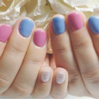 Cenbless 成増フェイシャル&ネイルサロン 春色パステルブルー×ピンクネイル