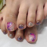 Cenbless 成増フェイシャル&ネイルサロン 梅雨の紫陽花カラー×キャッツアイ!ニュアンスインクネイル