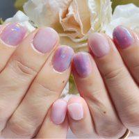 Cenbless 成増フェイシャル&ネイルサロン 柔らかな紫陽花カラーで描くニュアンスアートネイル