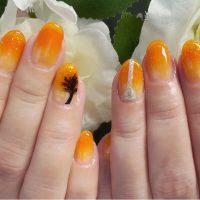 Cenbless 成増フェイシャル&ネイルサロン 晩夏の季節にぴったり!オレンジグラデーション×パームツリーネイル